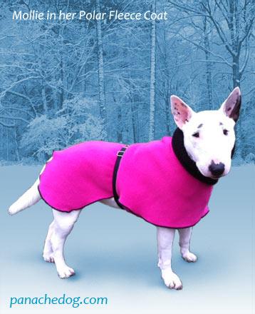 pink fleece dog coat