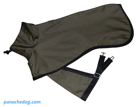 olive green dog rain coat