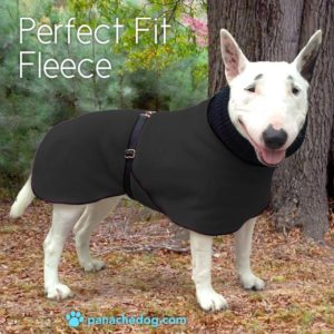 black fleece dog coat