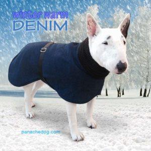 PanacheDog warm winter denim dog coat