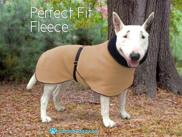 camel fleece dog coat