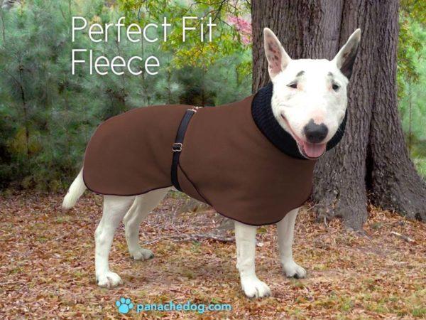 chocolate fleece dog coat