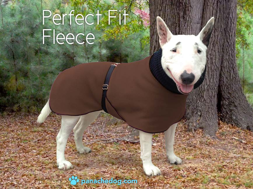 chocolate fleece dog coat