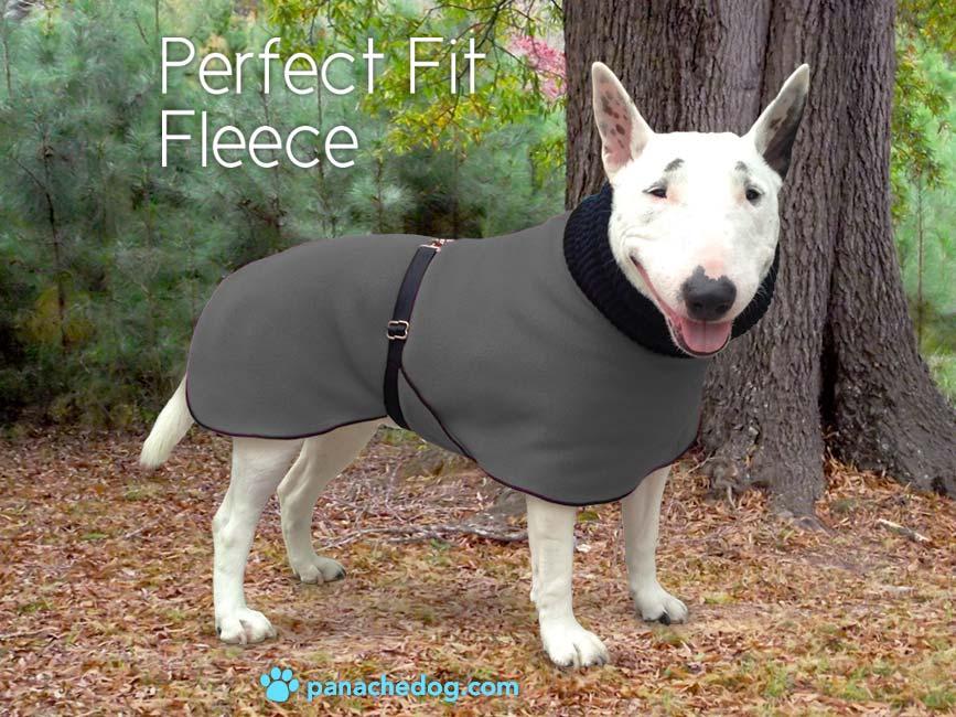 gray fleece dog coat
