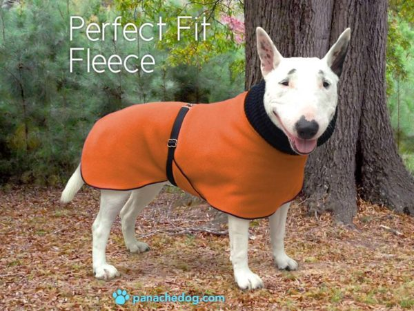 orange fleece dog coat