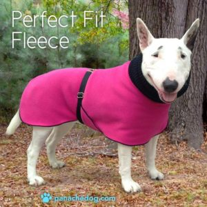 Pink Fleece Dog Coat