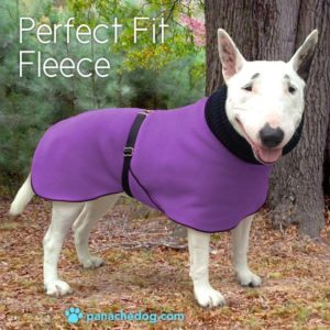 purple fleece dog coat