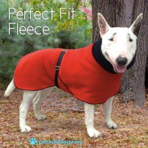 red fleece dog coat