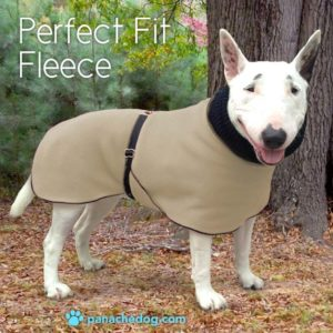 tan fleece dog coat