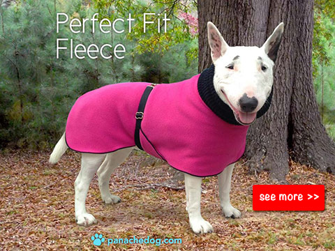 pink fleece dog coat by panachedog