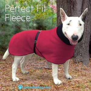 cranberry fleece dog coat