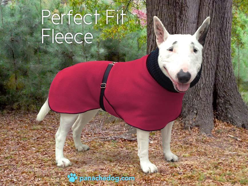 cranberry fleece dog coat