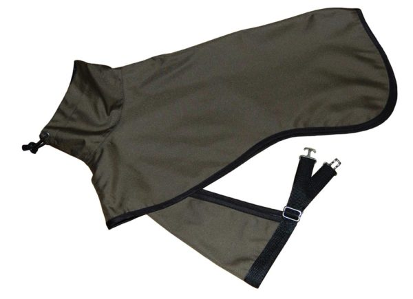 dark green raincoat for dogs