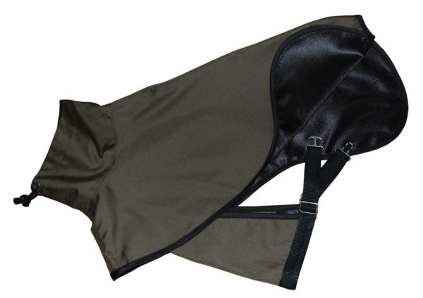 dark green dog raincoat lining