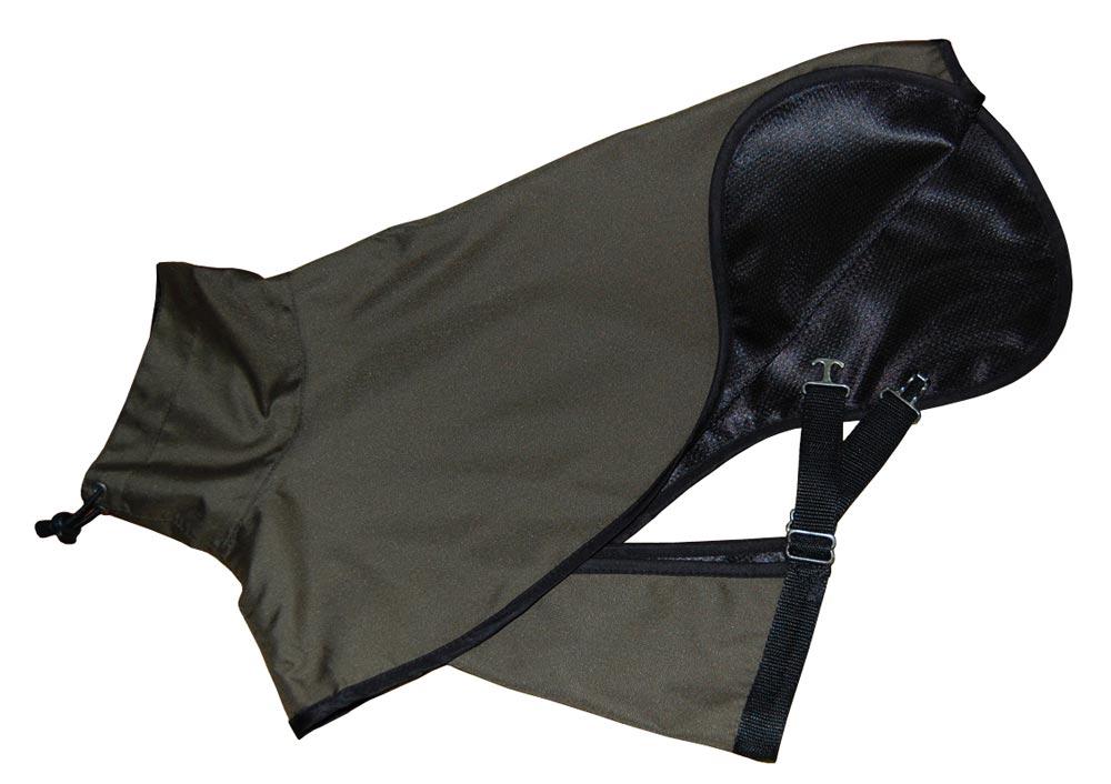 dark green dog raincoat lining