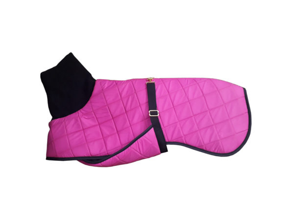 panache pink quilted dog coat