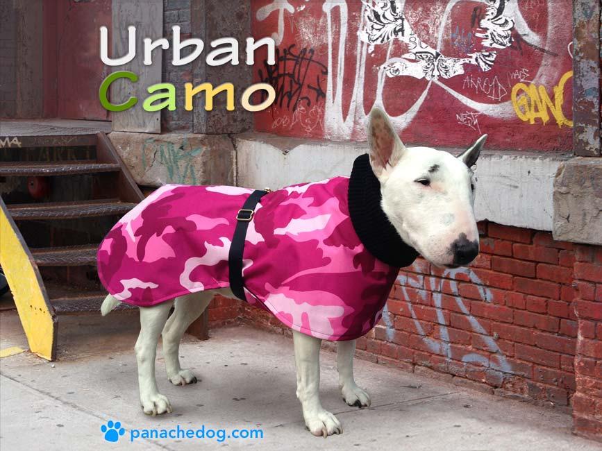 pink camo dog coat