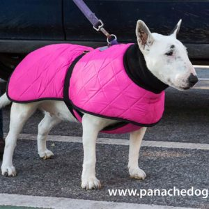 Pink Quilted Dog Coat at Panache Dog
