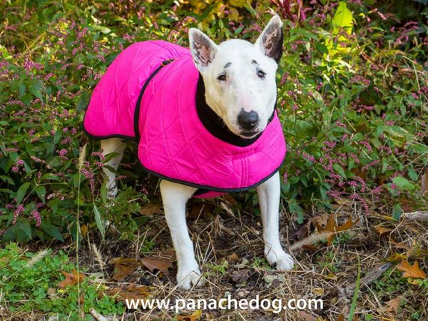 Pink Quilted Dog Coat
